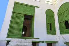 Old city in Jeddah, Saudi Arabia known as Historical Jeddah. Old and heritage Windows and Doors in Jeddah.Saudi Arabia. Old city in Jeddah, Saudi Arabia known as stock photo