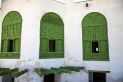 Old city in Jeddah, Saudi Arabia known as Historical Jeddah. Old and heritage Windows and Doors in Jeddah.Saudi Arabia. Old city in Jeddah, Saudi Arabia known as royalty free stock photos