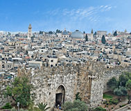 Old city of Jerusalem. And Damascus gate Royalty Free Stock Photography
