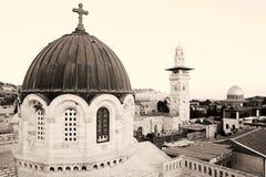 Old city jerusalem. Sepia toned shot of old city jerusalem Royalty Free Stock Photography