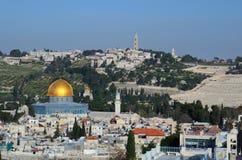 Old City of Jerusalem. Landmarks such as Dome of the Rock in the Old City of Jerusalem, Israel Stock Images