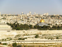 The Old City of Jerusalem. Dome of the Rock. The Old City of Jerusalem Stock Images