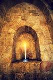 Old city Jerusalem. Ancient wall in old city Jerusalem Stock Photos