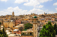 Old City of Jerusalem from Austrian Hospice Roof. Israel/Palestine Royalty Free Stock Image