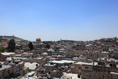Old City of Jerusalem with Dome of the Rock Stock Photo