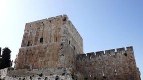 The old city of Jerusalem stock video footage