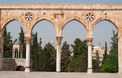 Jerusalem, Old City, Israel, Middle East, arch, Temple Mount, religious, pilgrimage, Holy Land, islam. The arches on Temple Mount on September 2, 2015. The stock photos
