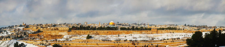 Old City in Jerusalem, Israel panorama Royalty Free Stock Images