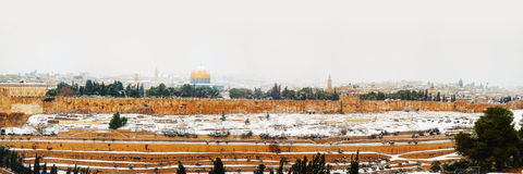 Old City in Jerusalem, Israel panorama Royalty Free Stock Photography