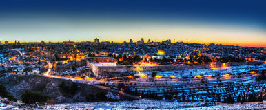 Old City in Jerusalem, Israel panorama Royalty Free Stock Photos