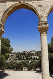 Mount of Olives from Dome of the Rock Stock Images