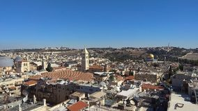 Old city of Jerusalem Skyline view from the tower of David royalty free stock image