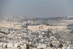 Old City of Jerusalem Landscape, Israel Stock Photo