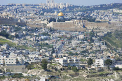Old city of Jerusalim. View of old city of Jerusalim Royalty Free Stock Image