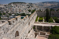 Old city of Jeruslaem, Temple Mount Stock Photos
