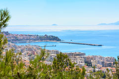 Old city in Kavala, Greece Stock Images