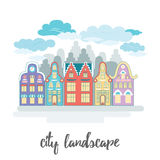 Old city landscape. Sign of european town or urban. Stock Images