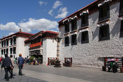 Old city Lhasa, Tibet Royalty Free Stock Image