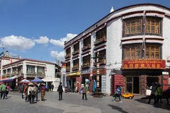Old city Lhasa, Tibet Stock Photo