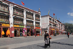 Old city Lhasa, Tibet Stock Image