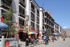 Old city Lhasa, Tibet Royalty Free Stock Photo