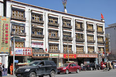 Old city Lhasa, Tibet Royalty Free Stock Photography