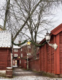The old city in Linköping. The old city in Linköping during Christmas Royalty Free Stock Photos