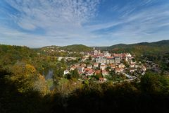 Panorama of Loket Czech Republic royalty free stock photography