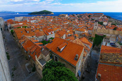 Old City and Lokrum, Dubrovnik Stock Photo