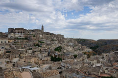 The Old city of Matera. The historic center of Matera with the so called Sassi houses Royalty Free Stock Photo