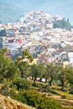 Old city in morocco africa la landscape. Old city in morocco africa land home and landscape valley royalty free stock images