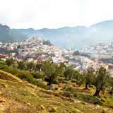Old city in morocco africa land home and landscape valley stock photography