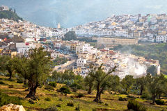 Old city in morocco africa land. Home and landscape valley stock photography