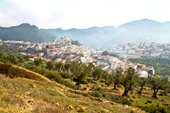 Old city in morocco africa land landscape valley. Old city in morocco africa land home and landscape valley stock photography