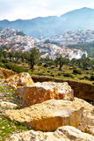 Old city in morocco africa and landscape valley. Old city in morocco africa land home and landscape valley stock photography
