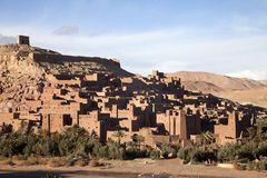 Old city in morocco. An ancient city of Ait Ben Hadu in morocco Stock Photo
