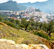 Old city in morocco land home and landscape valley. Old city in morocco africa land home and landscape valley stock photography