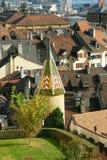 Old city of neuchatel. Switzerland Royalty Free Stock Images