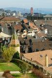 Old city of neuchatel royalty free stock photo