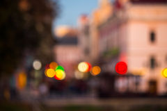 Old city night street blurred abstract image Stock Images