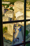 Old City and Old Bridge (Stari Most), Mostar Royalty Free Stock Photo
