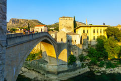 Old City and Old Bridge (Stari Most), Mostar Stock Photography