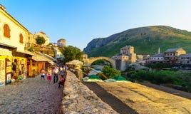 Old City and Old Bridge (Stari Most), Mostar Stock Photo