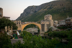 Old City and Old Bridge (Stari Most), Mostar Royalty Free Stock Images