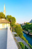 Old City and Old Bridge (Stari Most), Mostar Stock Image