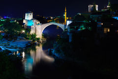 Old City and Old Bridge (Stari Most), Mostar Royalty Free Stock Photos