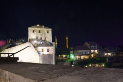 Old City and Old Bridge (Stari Most), Mostar Stock Images