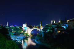 Old City and Old Bridge (Stari Most), Mostar Royalty Free Stock Photography