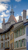 Old city of Orbe 1. Old city of Orbe. Switzerland Stock Image