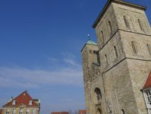 The city of osnabrueck in germany. The old City of osnabrueck in germany Stock Photography